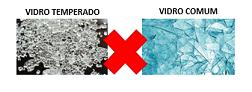 Vidro temperado X vidro comum